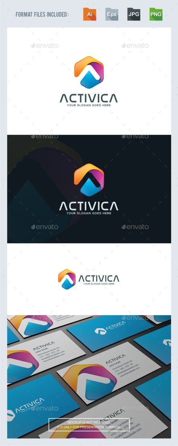 Activica - A Letter Logo Template Vector EPS, AI Illustrator. Download here: https://graphicriver.net/item/activica-a-letter-logo-template/17306252?ref=ksioks