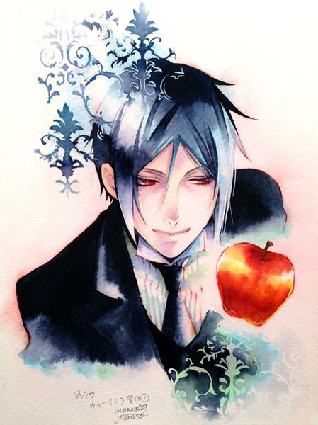 Ciel Phantomhive This is what was written in the to describe this image tell me what you think is wrong?