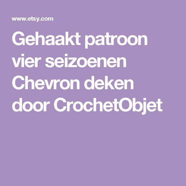 Gehaakt patroon vier seizoenen Chevron deken door CrochetObjet