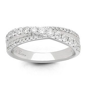 Combining vintage inspired style and luxury design, this stunning Platinum crossover band is set with 0.58ct carat of glittering diamonds. Beautifully intricate craftsmanship from Neil Lane Designs.