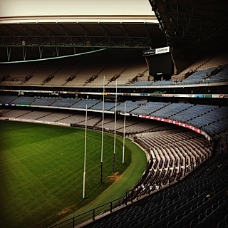 The MCG after the game ... you can still hear the cheer of the crowd echoed by the wind ...