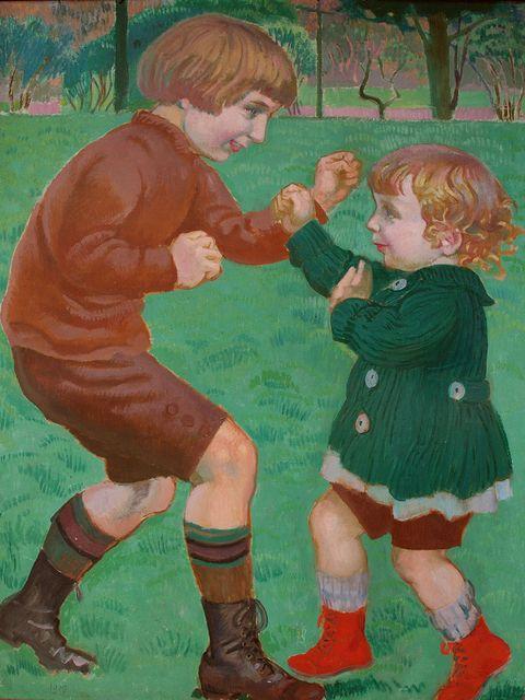 Maurice Denis - La Boxe, 1918 - L'art et l'enfant. Chefs-d'œuvre de la peinture française - Musée Marmottan Monet, Paris - Jusqu'au 03/07/16