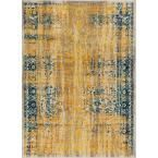 Laurent Stratton Yellow 7 ft. 10 in. x 9 ft. 10 in. Modern Vintage Eclectic Area Rug
