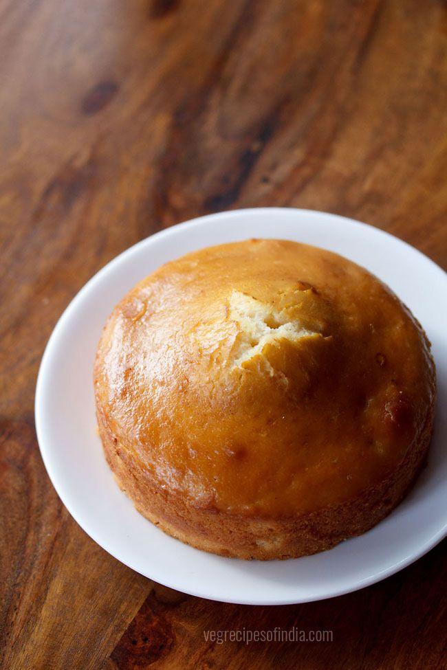 eggless pressure cooker cake recipe - spongy and a soft, light textured delicious cake made in pressure cooker.  #egglesscake