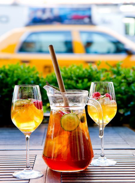 SAXON + PAROLE'S PIMM'S CUP    1.5 oz. Pimm's  1/2 oz. Pierre Ferrand Orange Curaçao  1/2 oz. Hendrick's Gin  Dash lemon juice  Top with Fever Tree Bitter Lemon, garnish with reckless abandon.