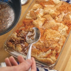 Sweet Potato Bread Pudding Recipe -  must do substitutions, of course