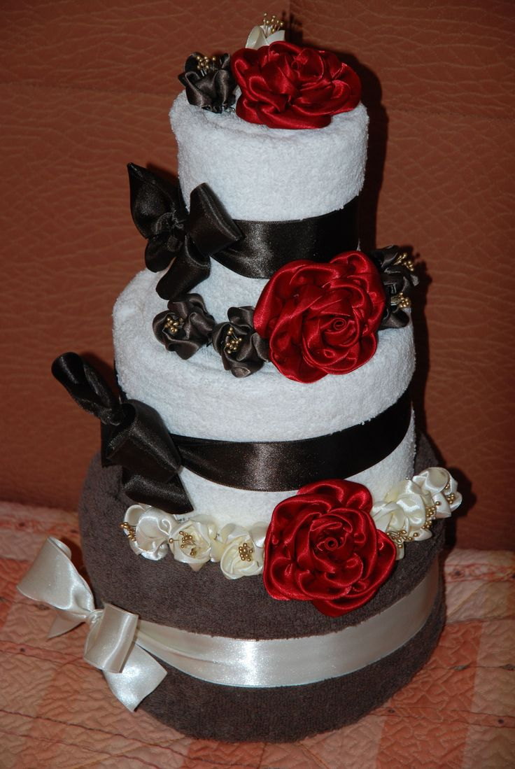 Ručníkový dort velký 45cm široký 30cm