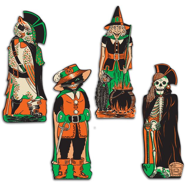 8 best Vintage Halloween Cutouts images on Pinterest | Halloween ...