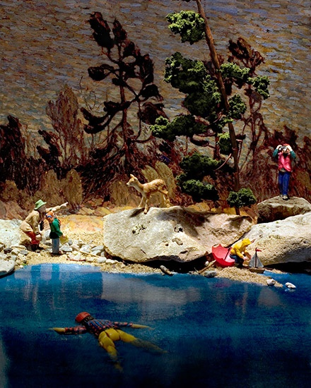 Diana Thorneycroft, Group of Seven Awkward Moments: Byng Inlet, photograph, 2008.