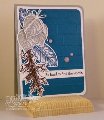 Create with Connie & Mary Challenge #360 using Stampin' Up! Vintage Leaves & An Open Heart. Debbie Henderson, Debbie's Designs.