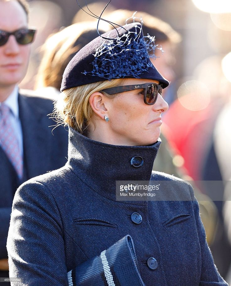 Zara Phillips watches her husband Mike Tindall's horse Monbeg Dude... News Photo | Getty Images