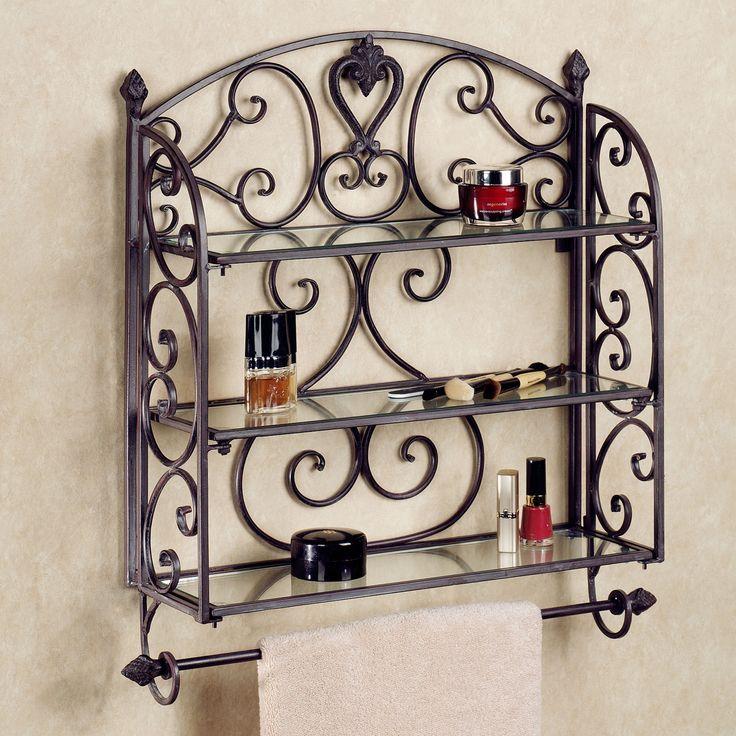 aldabella tuscany slate wall shelf towel bar. Black Bedroom Furniture Sets. Home Design Ideas