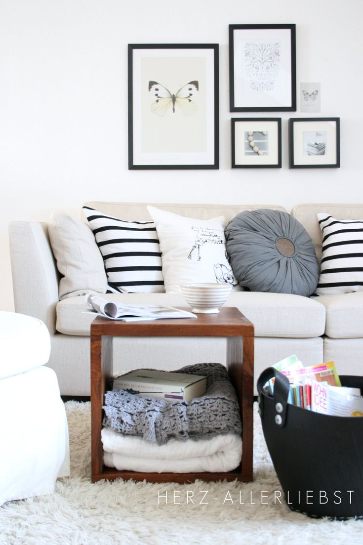 Black White Neutral Living Room Interiors Cozy