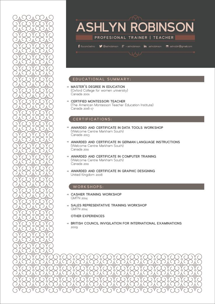 17 best CV Design images on Pinterest Resume, Resume design and - graphic design resume examples 2012