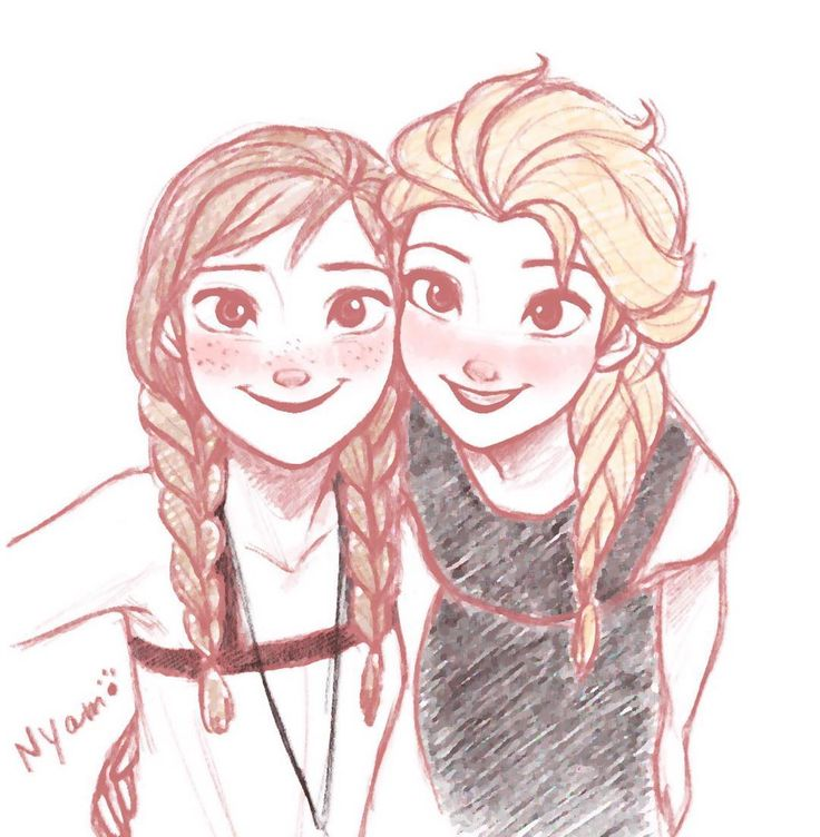 esa sketches frozen anna and sisters - photo #9