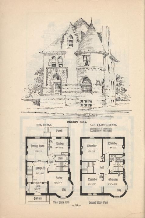 20 best vintage images images on pinterest vintage for Vintage victorian house plans