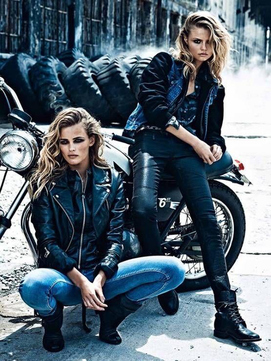 Biker-Frau! – #frauen #motard   – Auto und Mädchen – #Auto #BikerFrau #Frauen -… – Motorrad