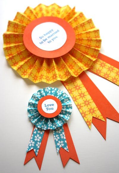 """DIY paper medallions - For the """"1st"""" Place Blue Ribbons to top the Cupcakes!"""