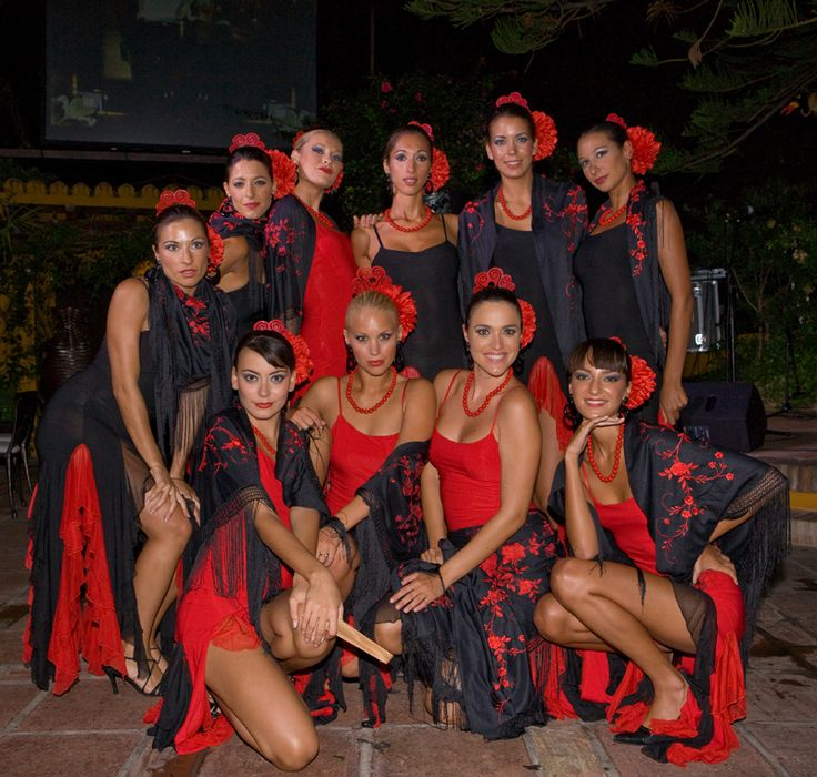 We could dress like flamenco dancers at the Spanish themed bridal shower.