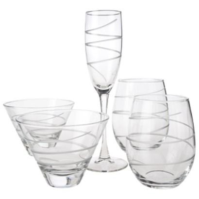 Spiral Glass Drinkware Collection
