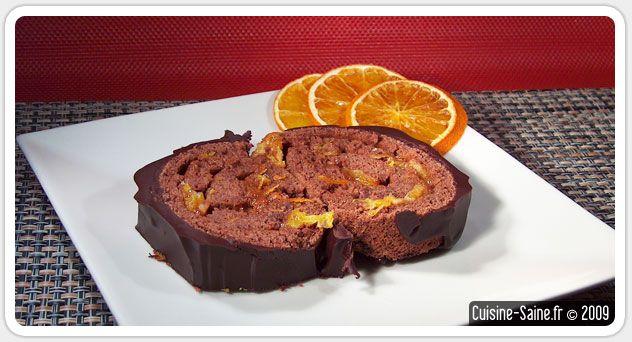 Recette de bûche de Noël sans gluten chocolat / orange