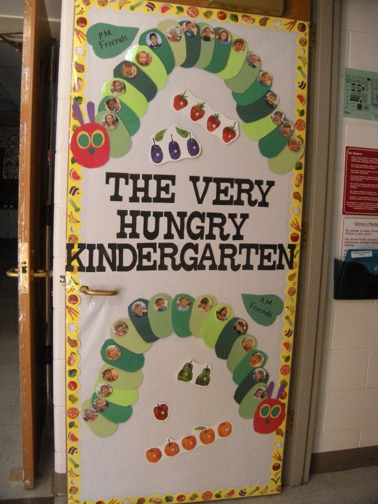 Hungry Caterpillar Classroom Ideas   Door for The Very Hungry Caterpillar theme. AM/PM Class