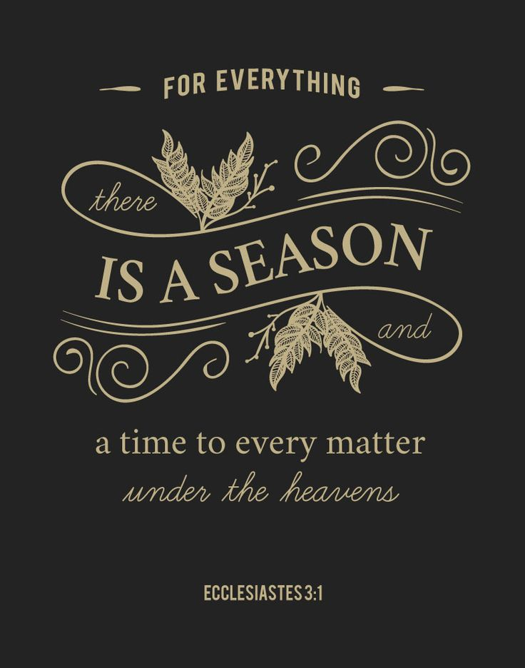 $5.00 Bible Verse Print - For everything there is a season - Ecclesiastes 3:1 - Everyone goes through good times and bad times; together they make up the seasons of your life. Let this beautiful print be a daily reminder that all things are in God's time. To everything there is a season, a time for every purpose under heaven. - Different size options available #bibleverse #bibleverseprint #christianart #instantdownload #ecclesiastes31