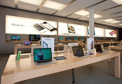 Apple trademarks distinctive design of stores more - Interior design for retail stores ...