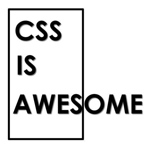 CSS is Awesome T-shirt (Unisex) | Dobrador Shopateria
