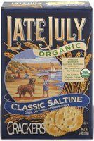 Organic Saltine Crackers.  I kept these on my night stand and had a few before I got out of bed to help fight the morning nausea.