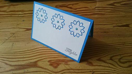 Simpelt kort med blomster punch