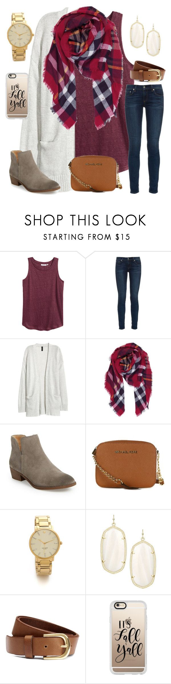 """""""Church was today"""" by ctrygrl1999 ❤ liked on Polyvore featuring H&M, rag & bone, Kofta, Humble Chic, Splendid, MICHAEL Michael Kors, Kate Spade, Kendra Scott and Casetify"""
