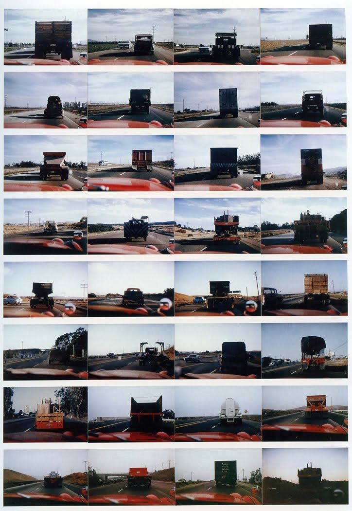 1963 - The Backs of All the Trucks Passed While Driving from Los Angeles to Santa Barbara