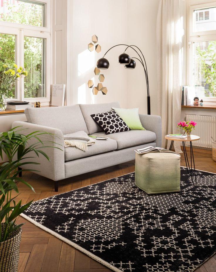 Micasa Wohnzimmer Mit 2er Sofa DIENER Und Teppich INES