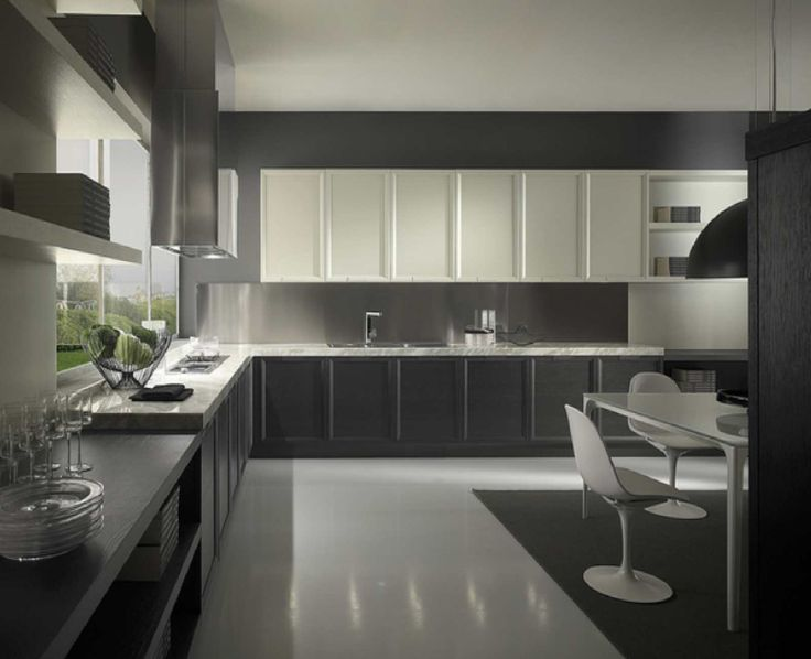 Kitchen Winsome Brown Wooden Kitchen Furniture Design Gray Ceramic ...