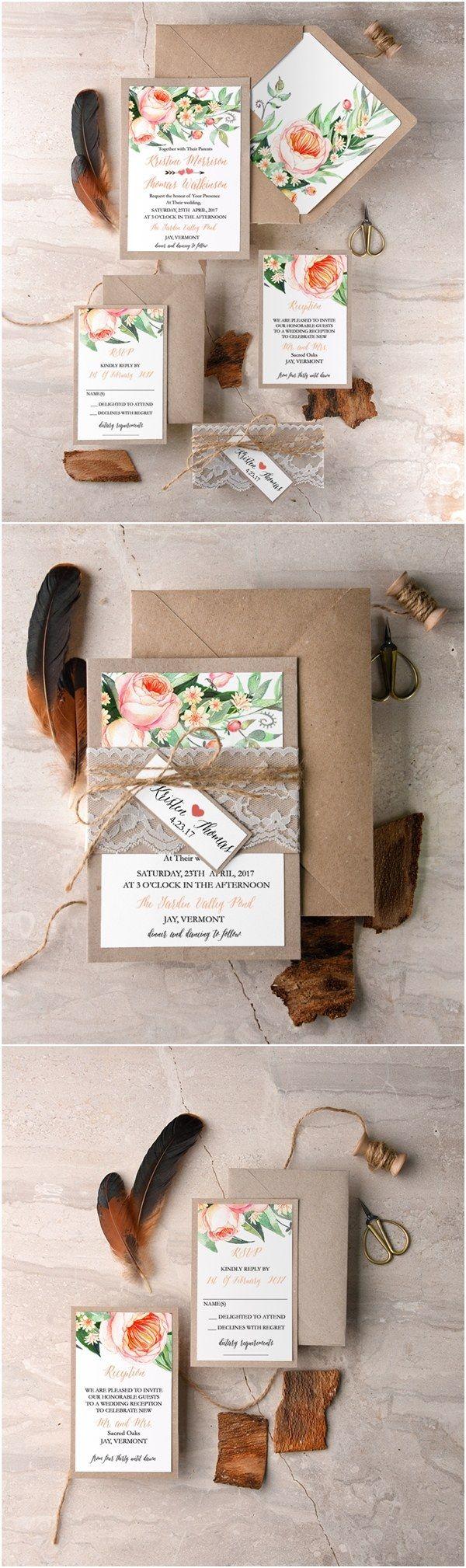 WEDDING INVITATIONS watercolor 1681 best Wedding invitations