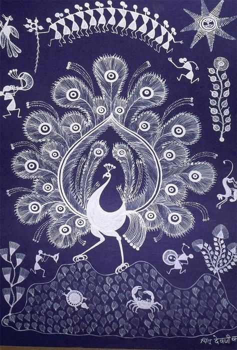 peacock warli art!