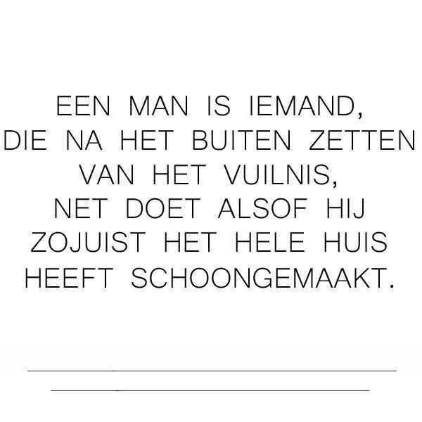 EEN MAN IS IEMAND..