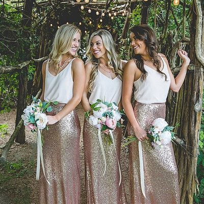 Hot selling Bridesmaid Dresses,Two Piece Bridesmaid Dresses,Sparkly Bridesmaid Dresses,Rose Gold Bridesmaid Dresses,Sequin Bridesmaid Dress, PD00131