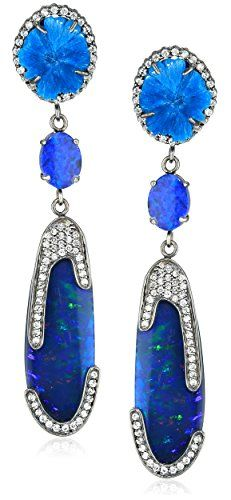 "Colette Steckel ""Alas"" Cavansite and Opal Earrings Colette Steckel http://www.amazon.com/dp/B008VAW81U/ref=cm_sw_r_pi_dp_43BEwb0M7TCN4"