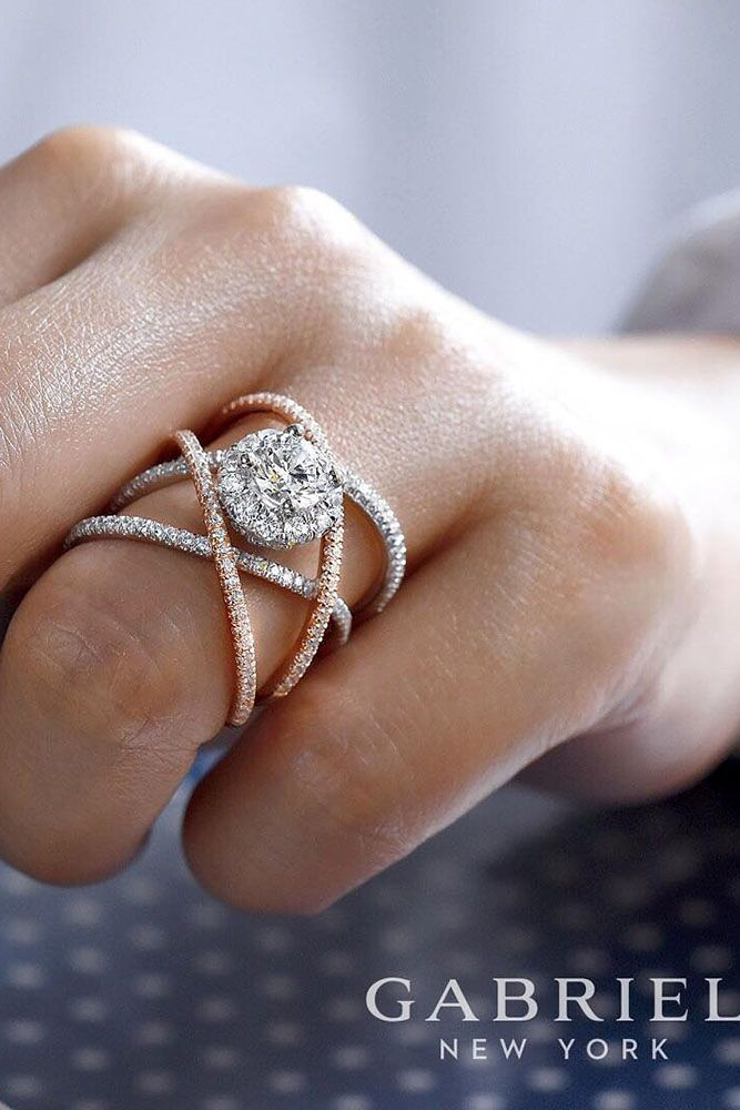 Fresh Engagement Ring Trends For 2018 ❤️ engagement ring trends unique white rose gold round cut diamond ring