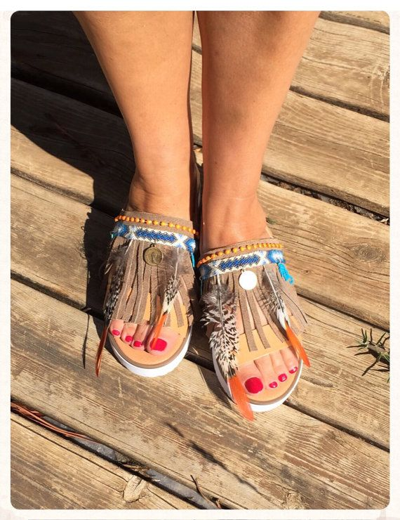FREE SHIPPING Handmade leather sandals by BohemianFootprints