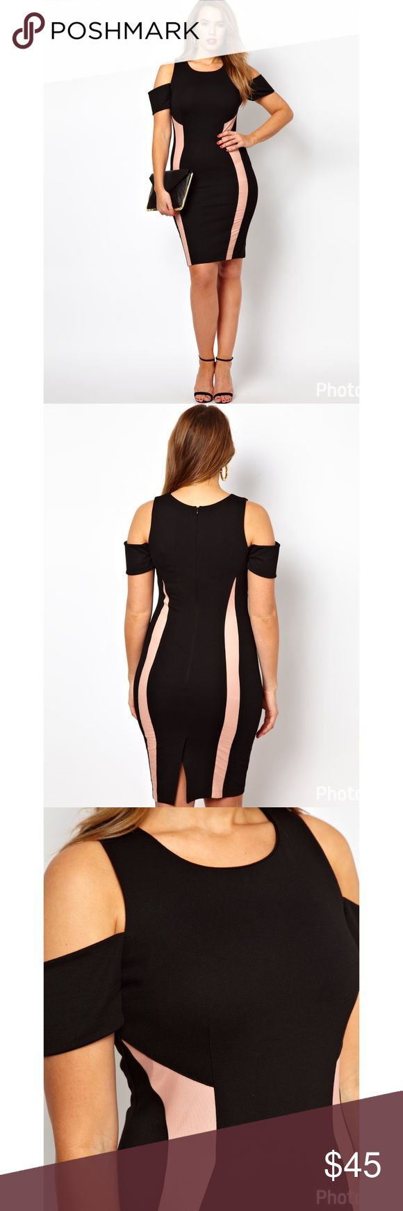 ASOS Curve bodycon dress with panels BNWT ASOS Curve bodycon dress with panels BNWT. Back zip. Back vent. Thick stretchy fabric. ASOS Curve Dresses