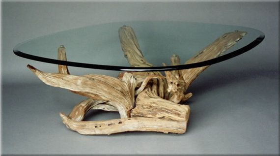 Driftwood Coffee Table / Media Stand / Coffee Table. Handmade From Reclaimed Wood / Salvaged driftwood /- reclaimed wood furniture store