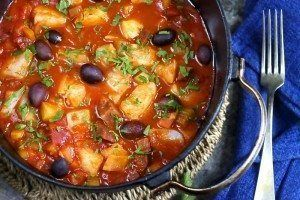 Skreigryte med tomat og chorizo - Elin Larsen