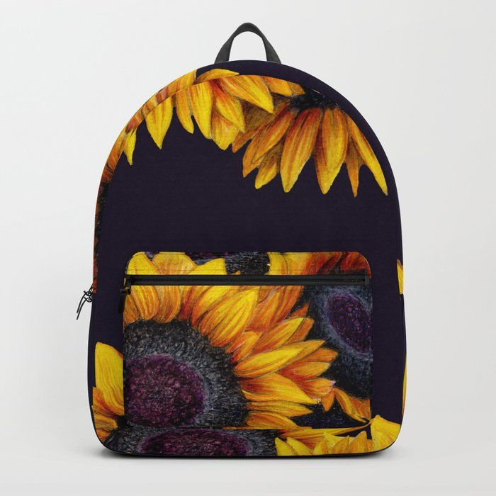 Colorful Yellow Flower Backpack