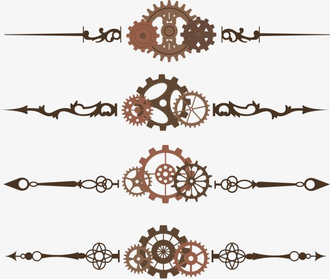 Vector retro gear frame PNG and Vector
