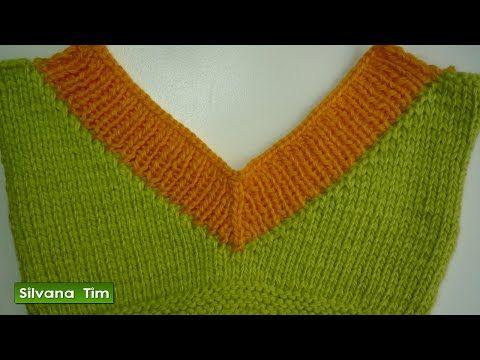 Silvana Tim - Tejido con dos Agujas, Crochet, Recetas de Cocina: Tejido con dos agujas - escotes