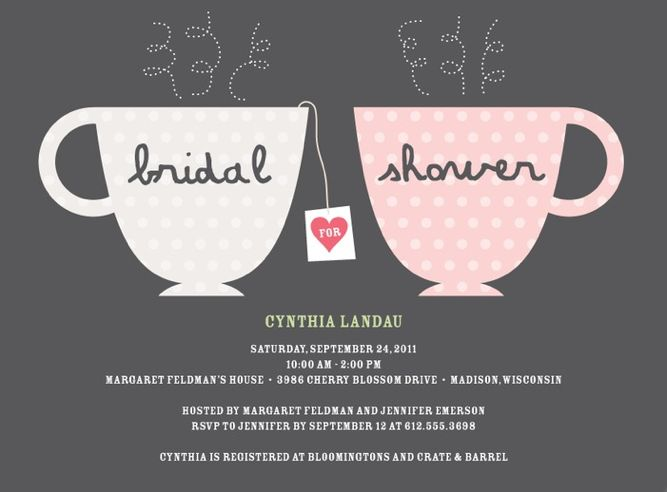 Invites ~ you can't get much cuter than these customizable tea cup bridal shower invitations from Wedding Paper Divas.
