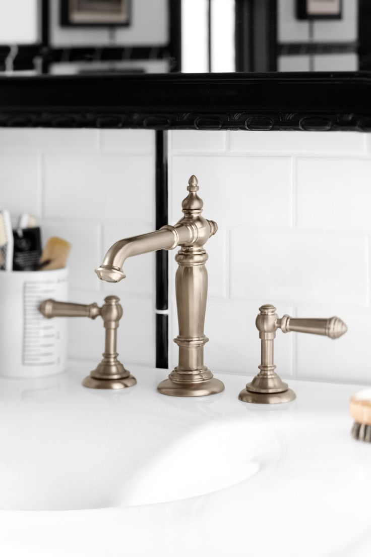 Vintage style bathroom sinks - With Its Nod To Vintage Style This Faucet Is Perfect For Fans Of Modern